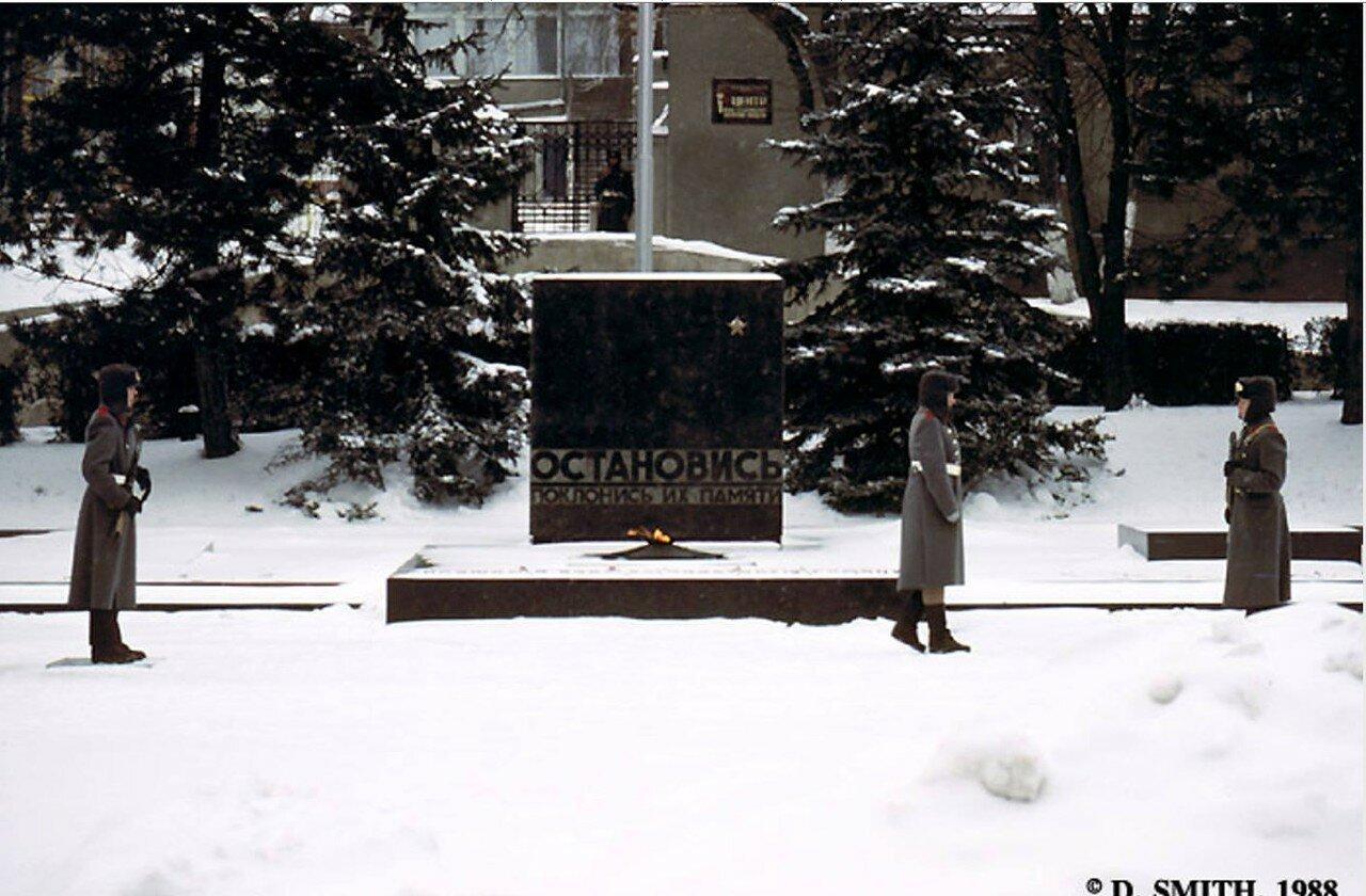 Пятигорск. Смена караула возле Вечного огня