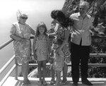 Мама, Иринка, Люба с Андрюшкой и папа над Ласпи, 9 июня 1973 г.