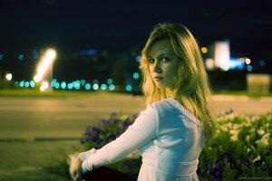 Печенька Рита девушка город ночь портрет