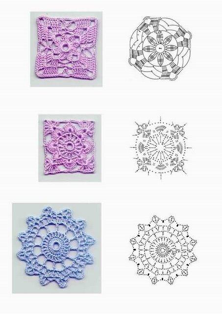 Квадратные мотивы. Вязание