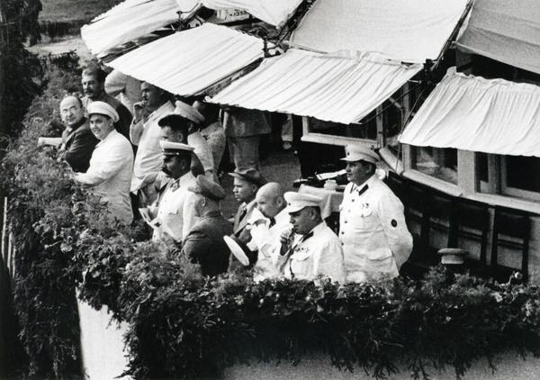 Иосиф Сталин, Лаврентий Берия, Георгий Маленков. Тушино