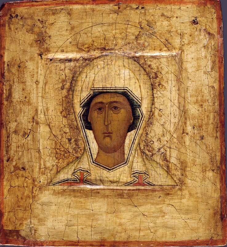 Святая Великомученица Параскева Пятница. Икона. Россия, 1530 - 1550 годы.