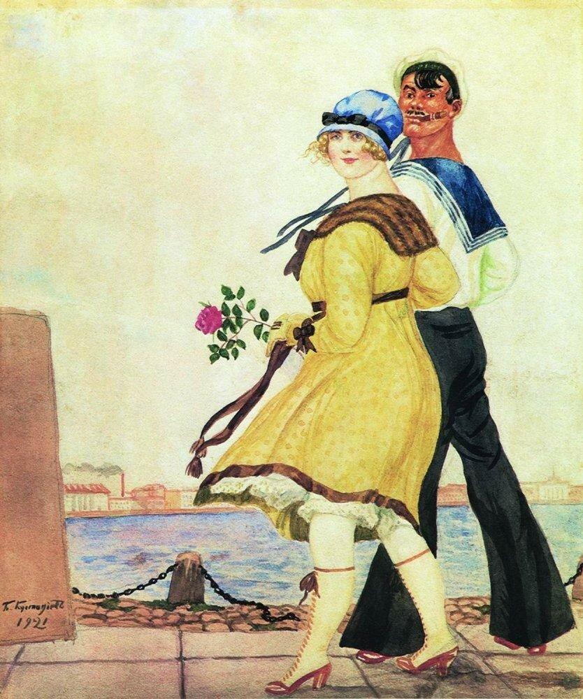 Матрос и милая. 1921.jpg