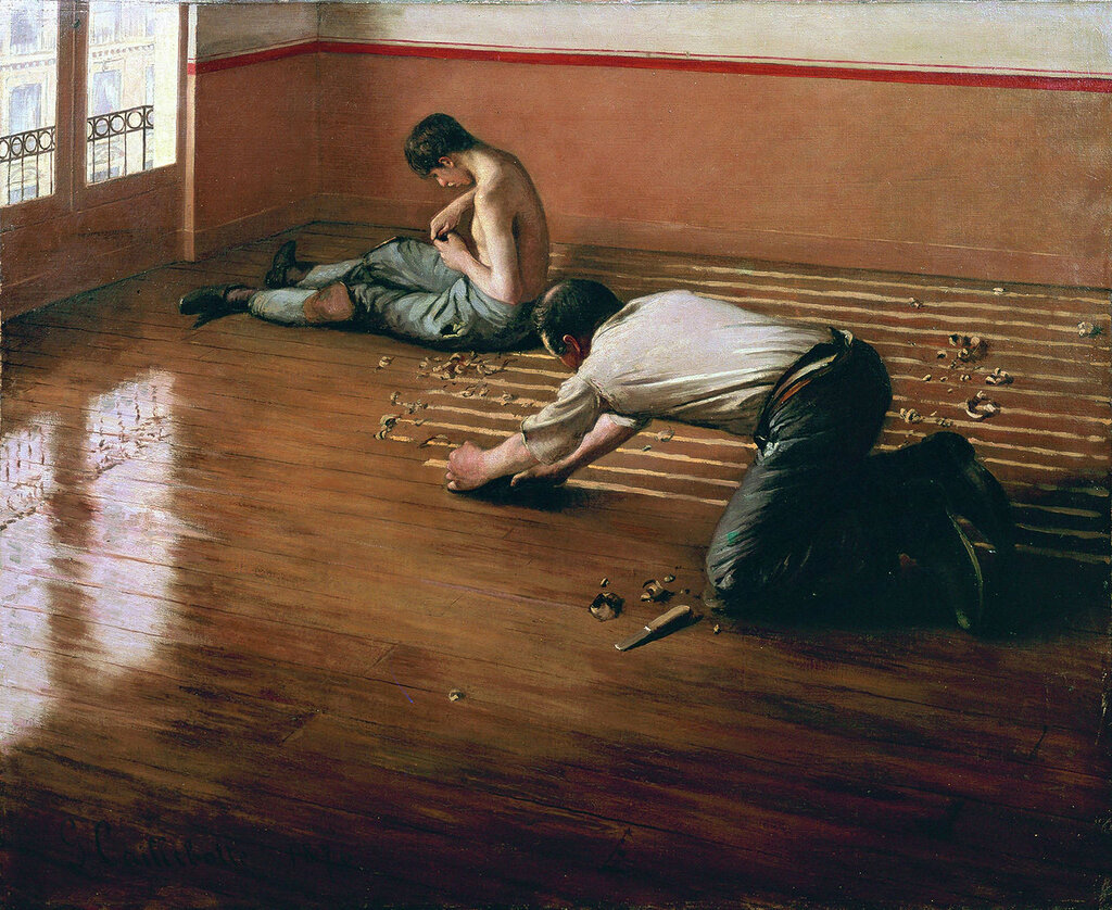 The Floor Scrapers - 1876 - Private collection -  Painting - oil on  canvas.jpg