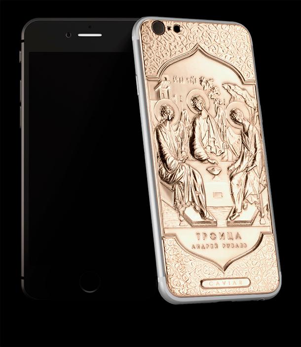телефон с иконой на корпусе