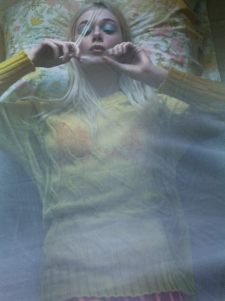 Elle Fanning в новом майском номере журнала Interview Magazine