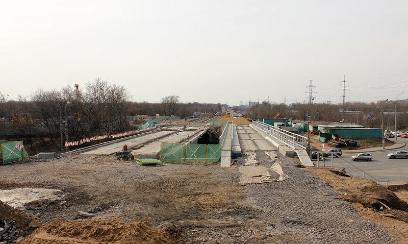 Мост МОЖД над улицей Вильгельма Пика, перегон Ростокино - Владыкино