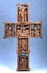 Крест двусторонний. XVIII в. Афон. Дерево, резьба