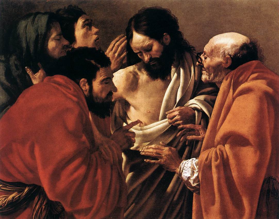 The Incredulity of Saint Thomas  (1621-23) Hendrick ter Brugghen (1588-1629) Rijksmuseum