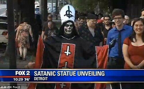 В США установили памятник Сатане
