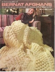 Книга Bernat 160 BOUQUET OF AFGHANS 1968 knit crochet booklet