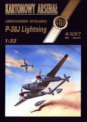 Журнал Журнал P-38J Ligting-Halinski Kartonowy Arsenal (4-5`1997)