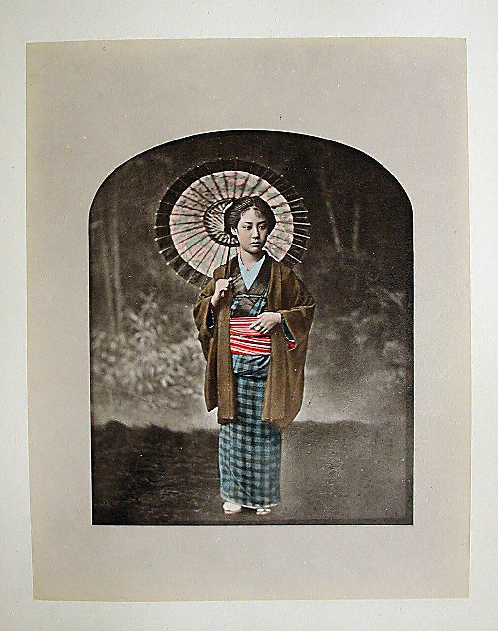 Девушка с зонтиком.  1890