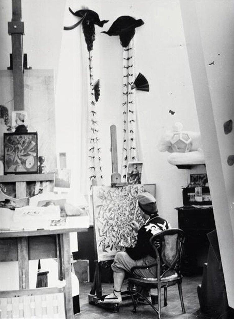 1955. Сальвадор Дали в мастерской Порт-Лигате