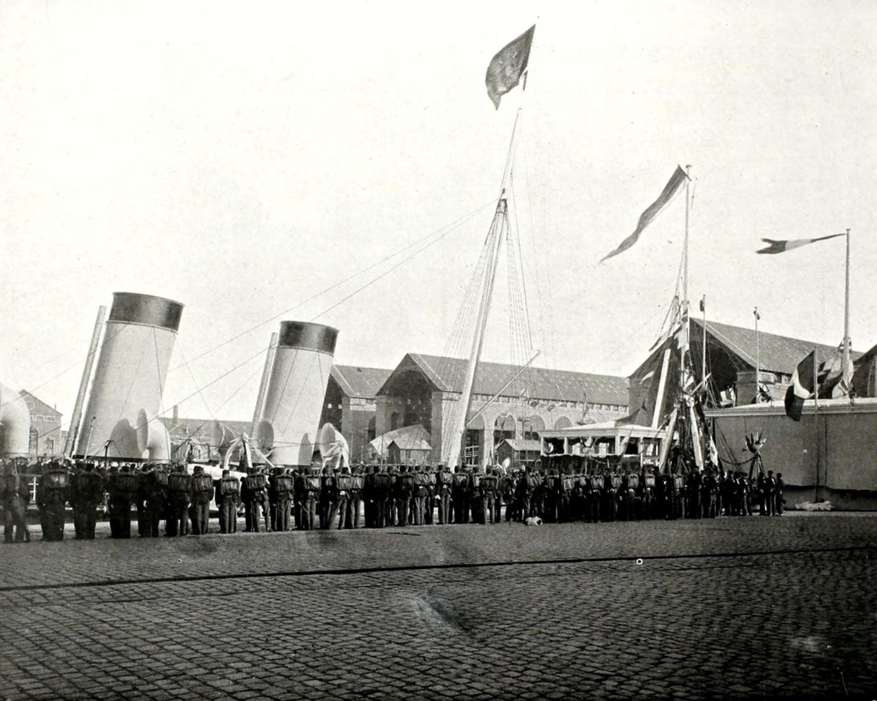 Встреча на  дебаркадере в Шербурге