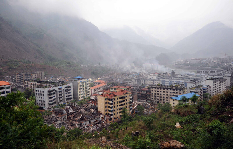 Earthquake Damage in Beichuan County