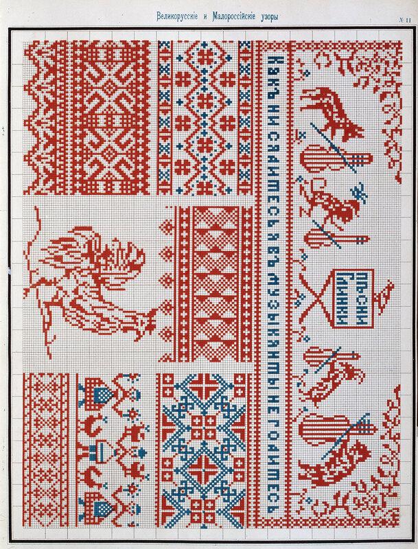 Схемы для вышивки и вязания.  Продолжение.