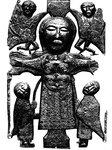 Бронзовое распятие из Атлона. Около 750 г