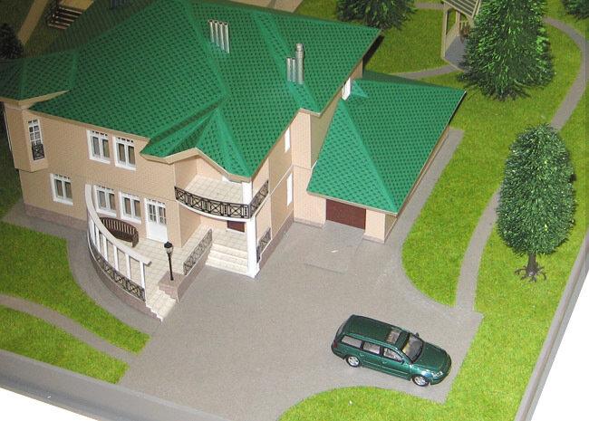 Архитектурное макетирование.  Изготовление макетов домов, коттеджей, зданий. фото 1.