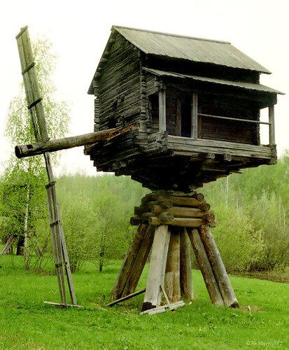 Кострома, музей деревянного зодчества, Д3, ветряная мельница (19 век)