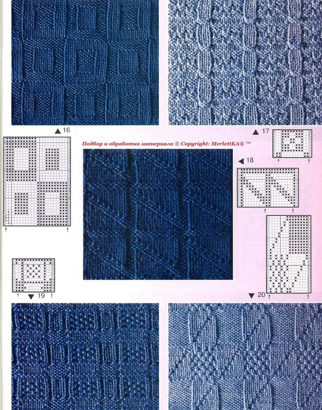 Узоры для вязания спицами рельефные узоры 22