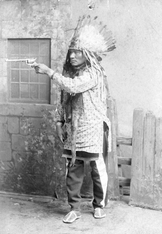 Longwolf, Chief of the Bad Face Band of Sioux, member of the cast of Buffalo Bill's Wild West Show, 1886