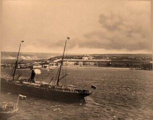 Панорама бухты у пароходной пристани. Севастополь