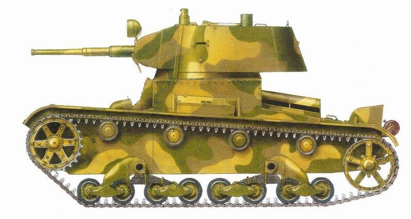 Легкий экранированный танк Т-26 Э.