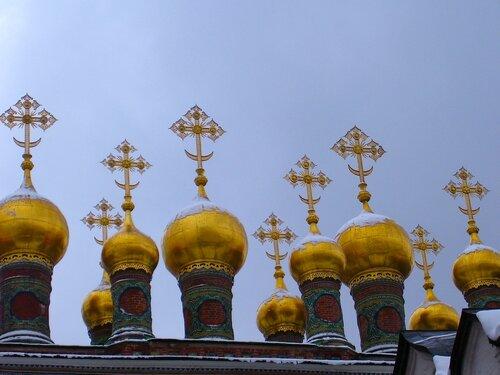 Купола в Московском Кремле