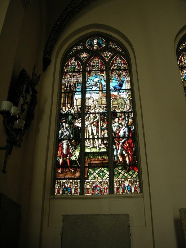 Один из витражей Домского собора