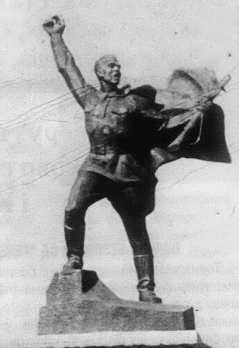 Памятник чекистам, погибшим при защите Киева, с. Борщев Барышевского района