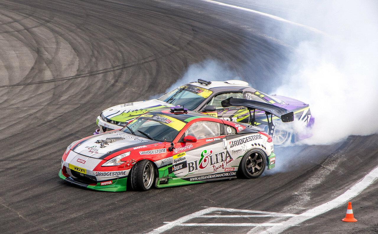 Никита Шиков(Nissan 350Z) vs Андрей Пискарев (Nissan S14)