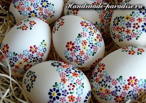 Роспись на пасхальных яйцах