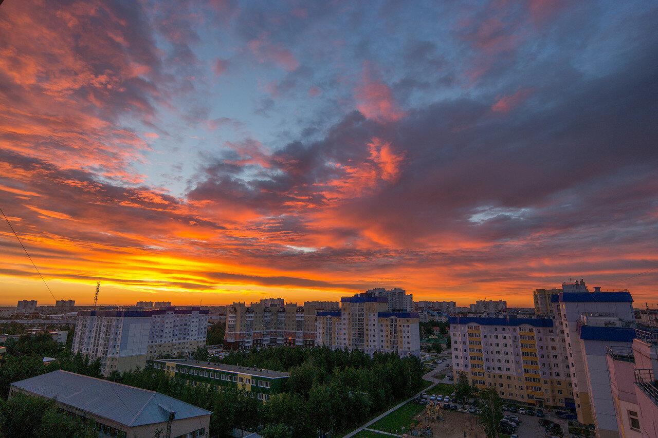 Июльский закат в Нижневартовске