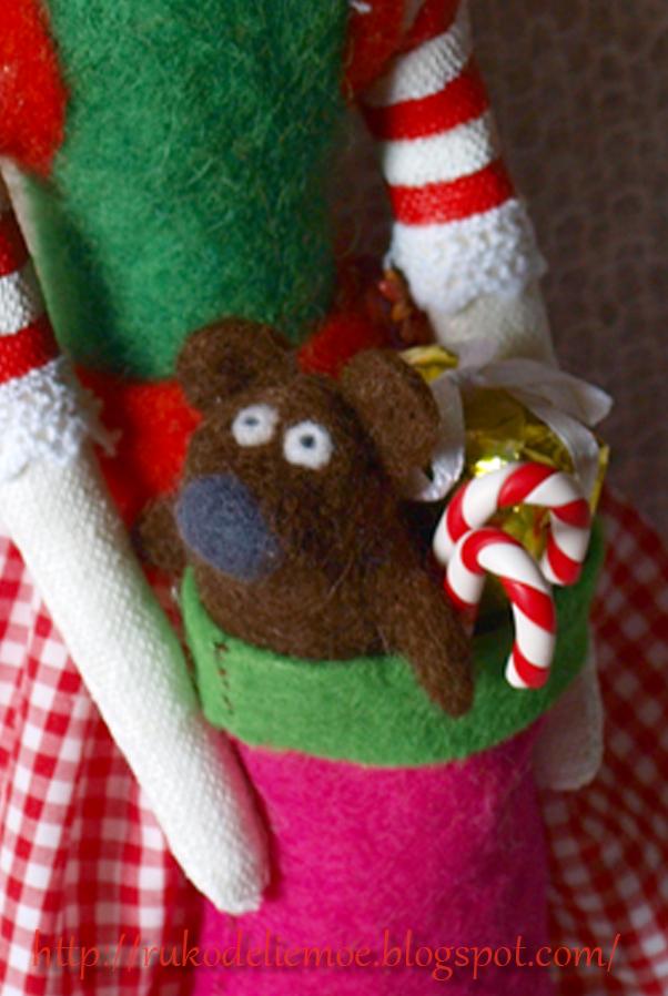новогодние игрушки, помощница Санты