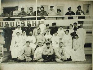 Персонал баржи-лазарета имени Ее величества государыни императрицы Марии Федоровны