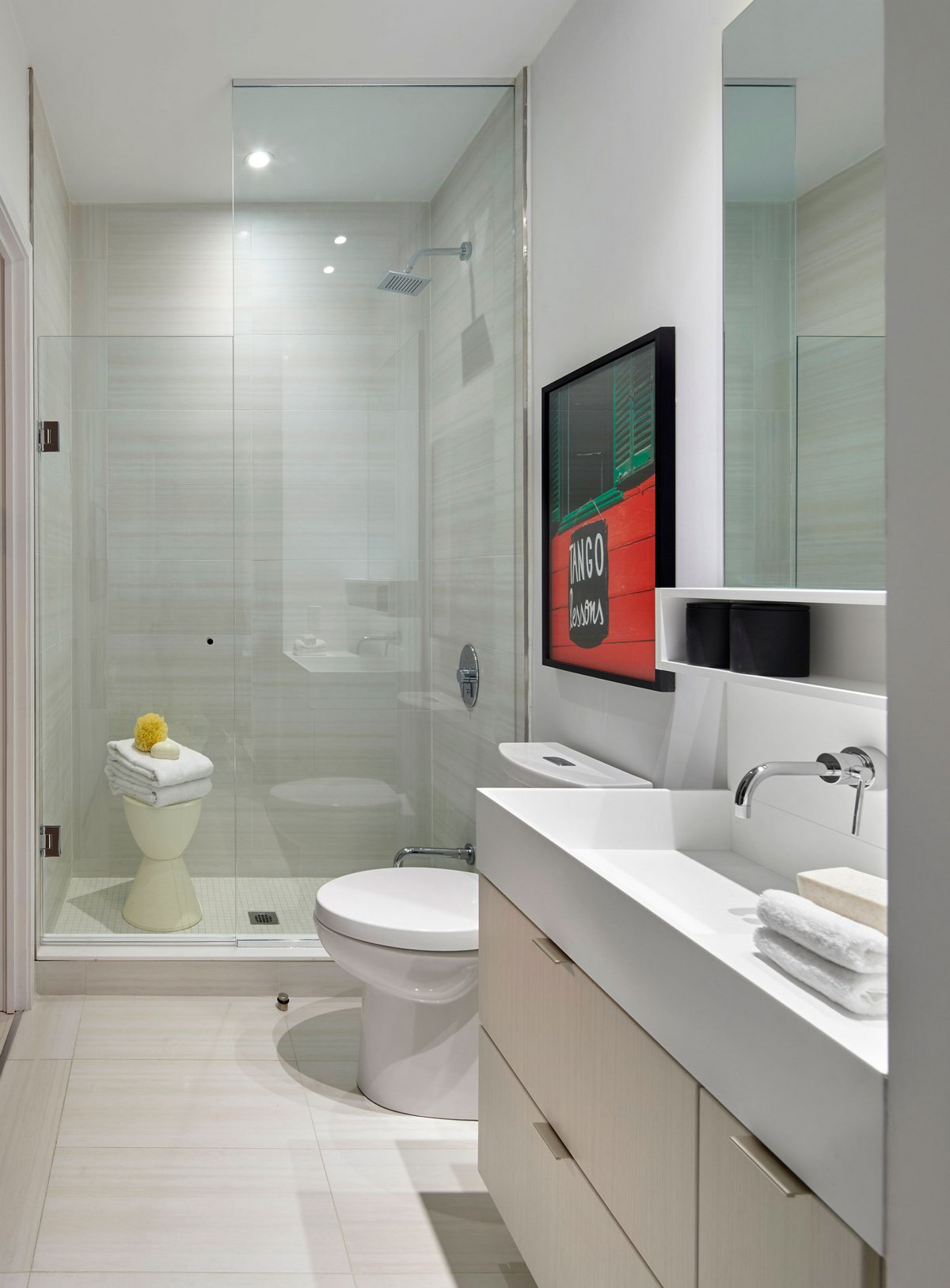 Contemporary bathroom wall art