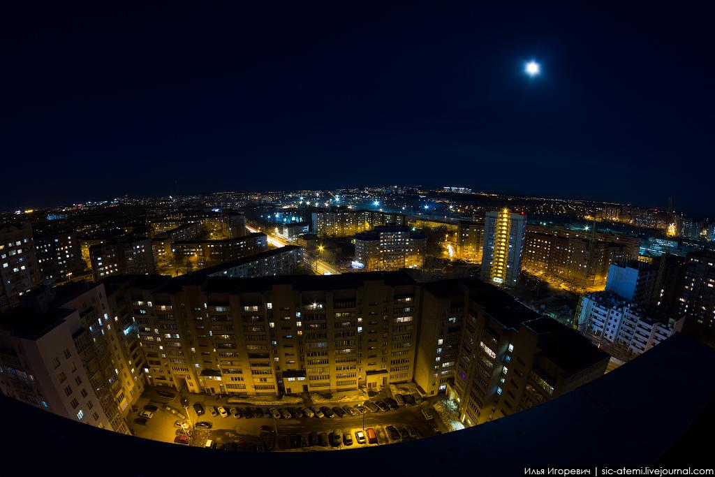 фото с крыши на ночной город белорусский точки