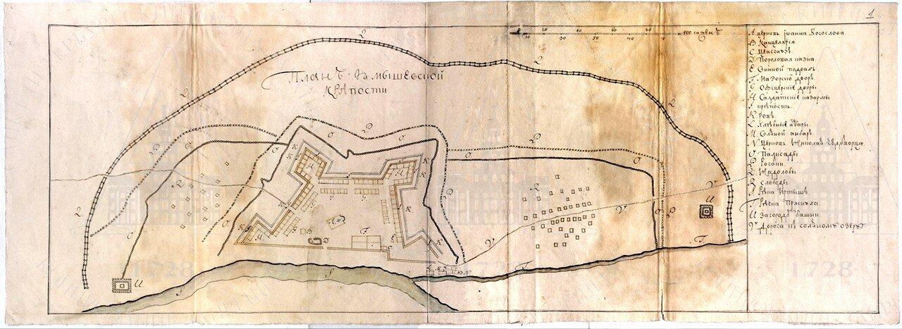 Ямышевская крепость. 1728
