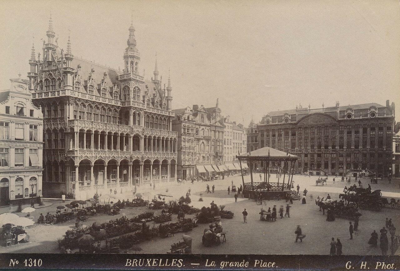 Брюссель.Гран-Плас. 1875