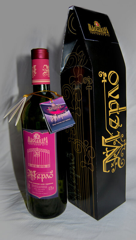 Курсовая Разработка бренда вина Мерло для ЗАТ ТД Массандра  Этикетка