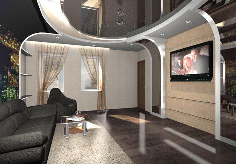 дизайн интерьера зала фото: