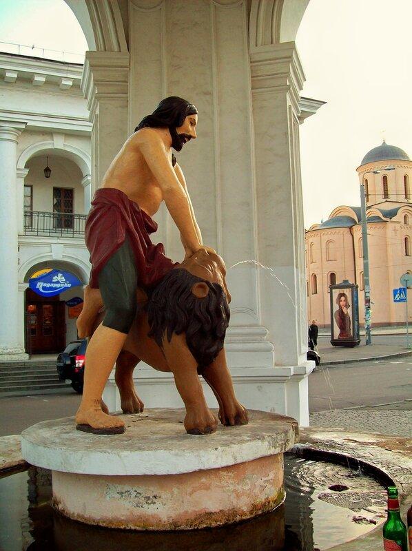 киев фонтан самсон