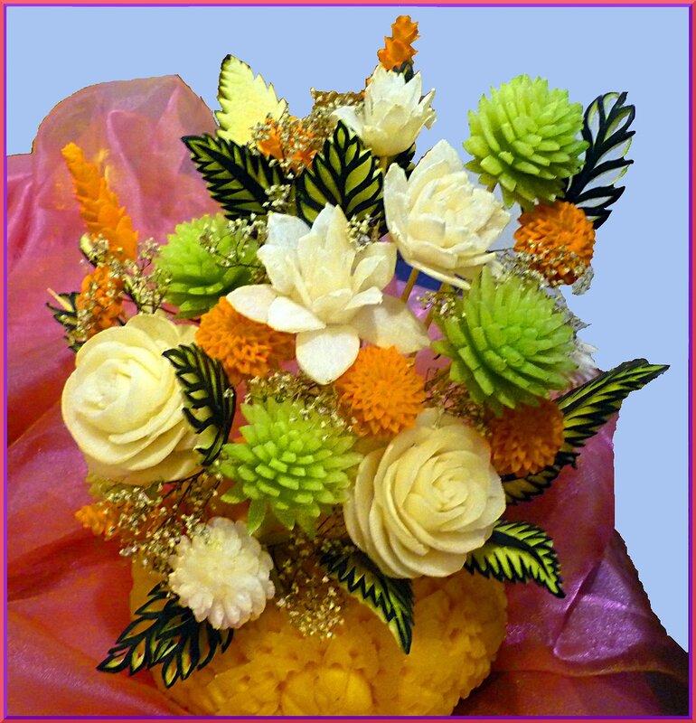 Поделка цветы из фруктов 65