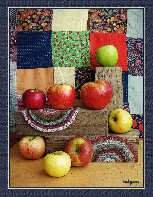 Натюрморт с яблоками. Часть 1