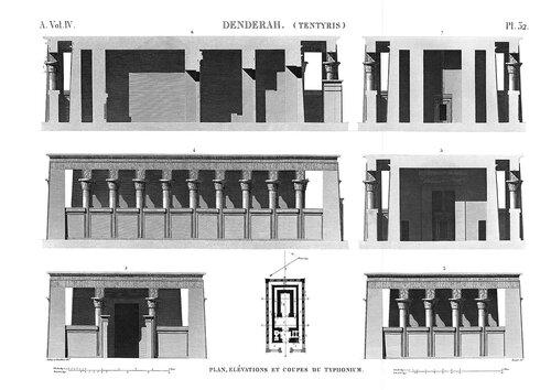 Храм Исиды в Дендре, Египет, план