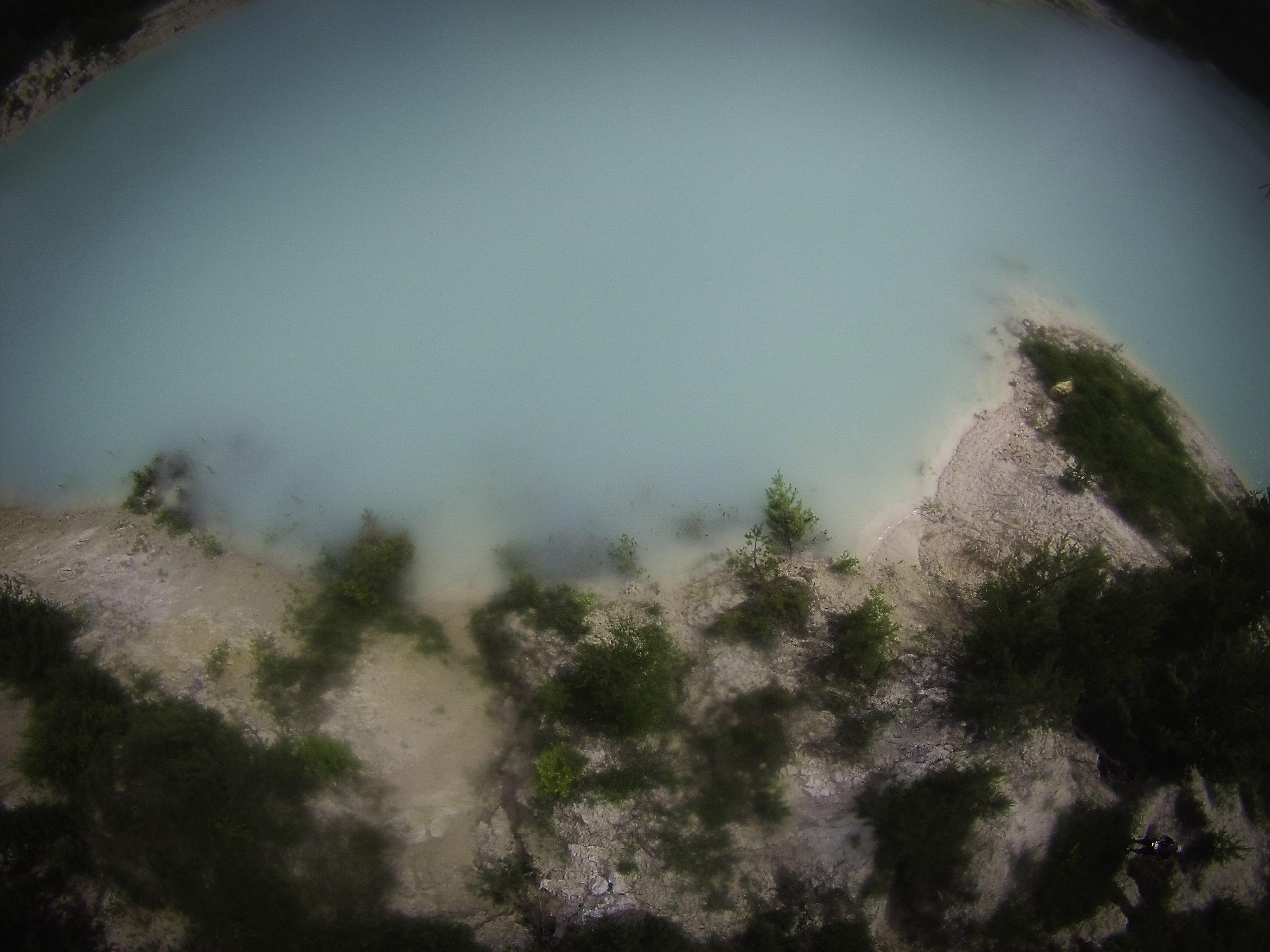 Глиняные берега каолинового карьера (15.06.2015)