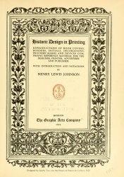 Книга Historic design in printing