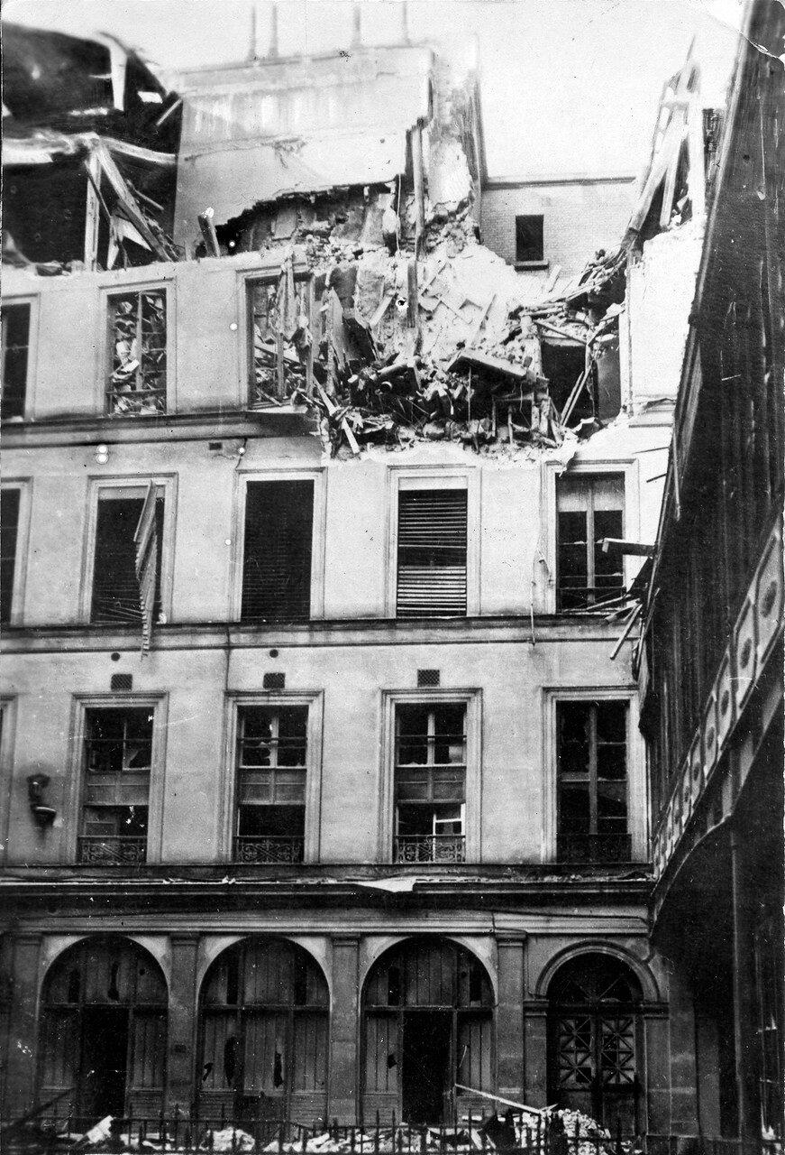 1918. Разрушения на Рю Жак Лаффит