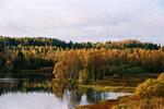 Озеро в деревне Маньга